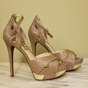 Gold Jessica Simpson Stilletos
